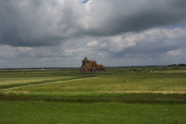 The church at Fairfield, Romney Marsh, Kent