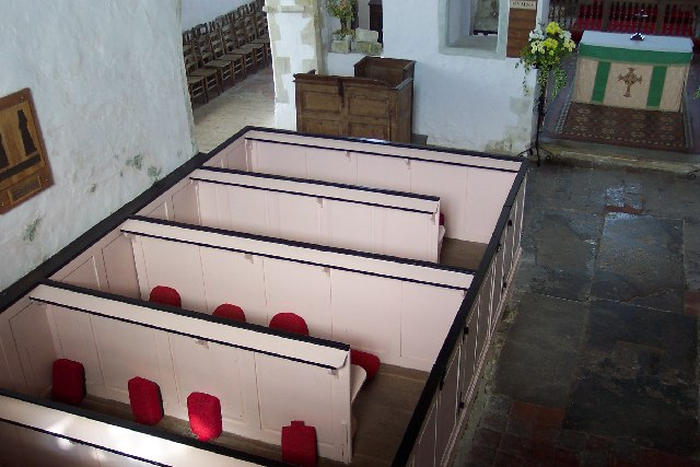 Interior of Old Romney church