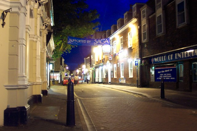 Hythe, Kent, at night