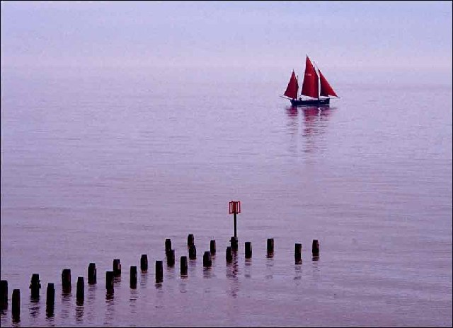 Sailing Barge at Southwold