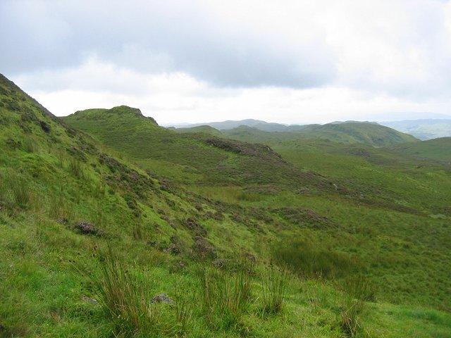 Moorland above Gleann Domhain