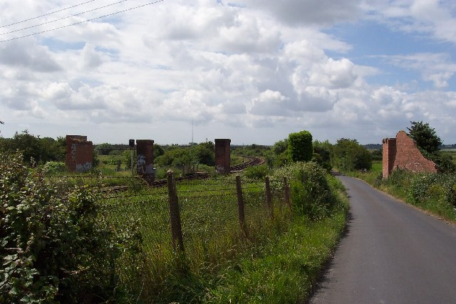 Remains of railway viaduct, Richborough, Kent