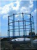 TQ3303 : Gas holder, Black Rock, Brighton by Simon Carey