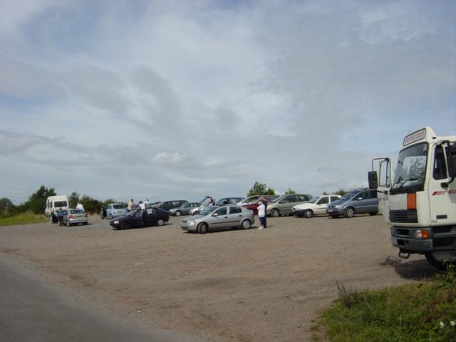 Plane spotters at Dungeon Lane, Speke