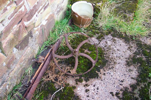 Found outside the old cottage at Toscaig