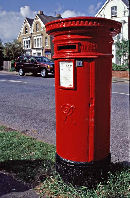 Large Victorian Letter Box, Church Hill, Winchmore Hill