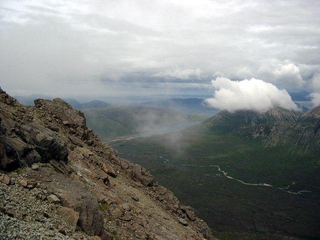 Descent from Sgurr nan Gillean