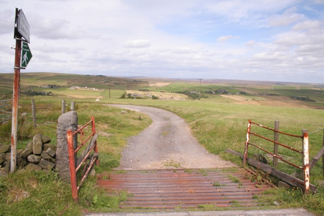 Footpath and cattle grid