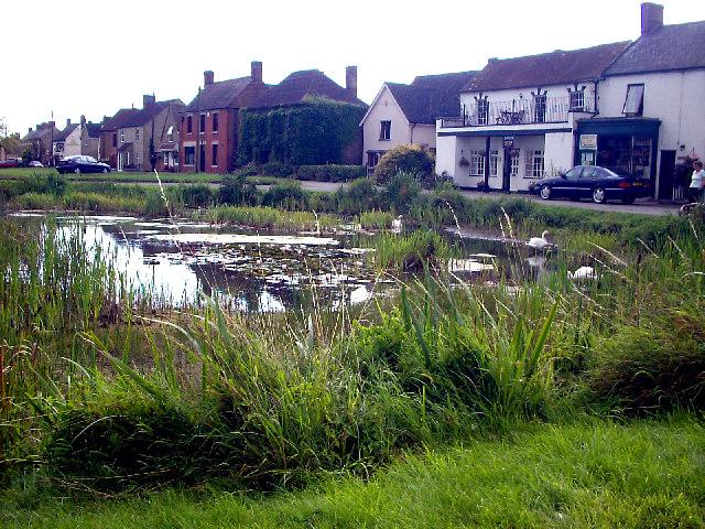 Pond on Frampton on Severn village green