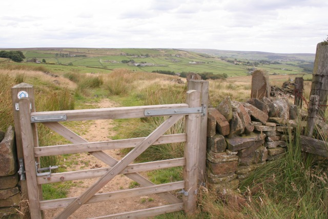 Gate on the Pennine Bridleway