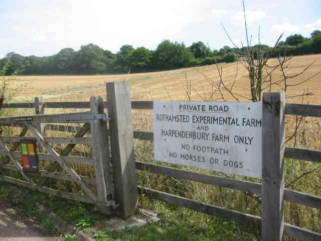 Entrance gates to  Rothamsted and the Farm