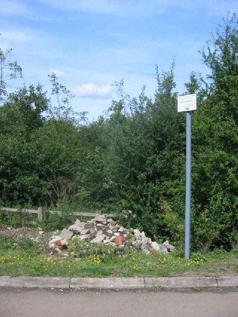Fly tipping sign at Rothamsted
