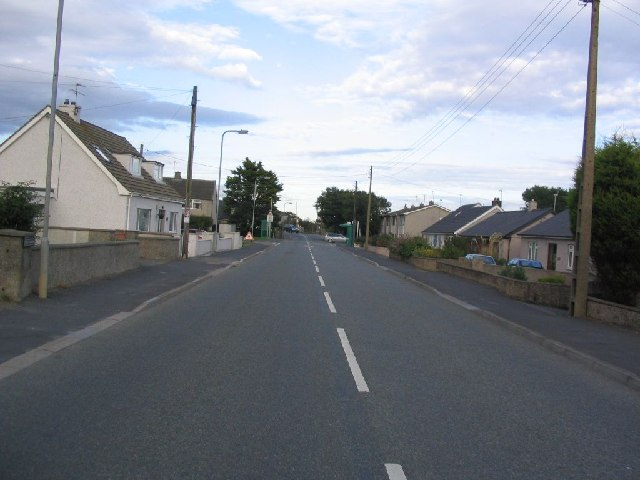 B4545 towards level crossing