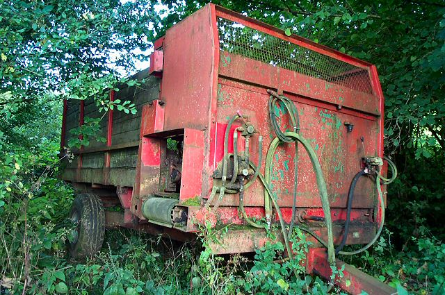 Disused farm trailer