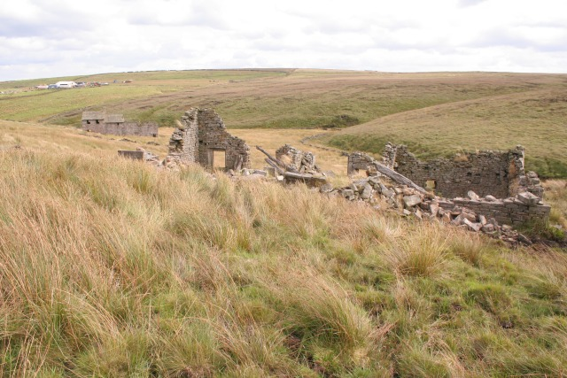 Derelict farmhouses of Noah Dale and Pad Laithe