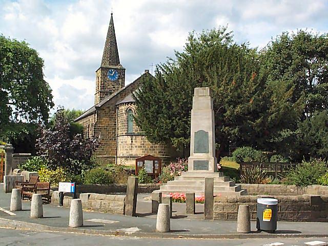 Pool war memorial and church