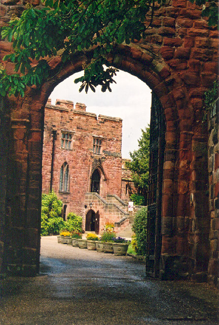 Archway into Shrewsbury Castle, Shropshire