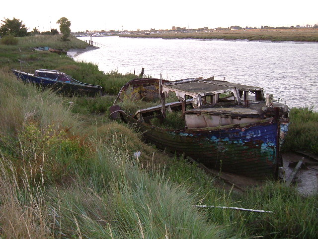 Bedraggled Boats at Benfleet Creek