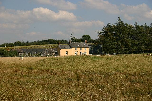 Farm on the edge of Cors Caron