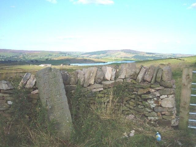 Mile post on Draughton heights