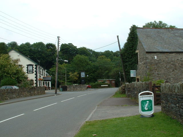Brecon Beacons Park Information centre and Angel Pub