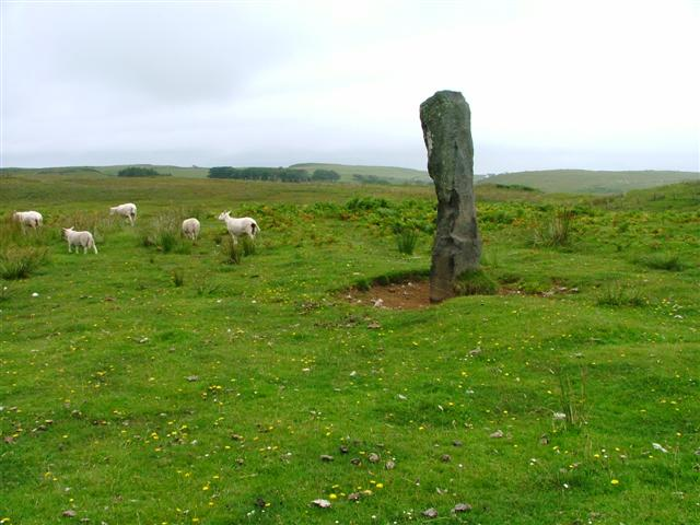 Unmapped Standing Stone off the Cleadale Road