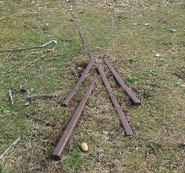 Old rail tracks