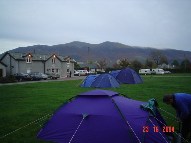 Campsite at Braithwaite.