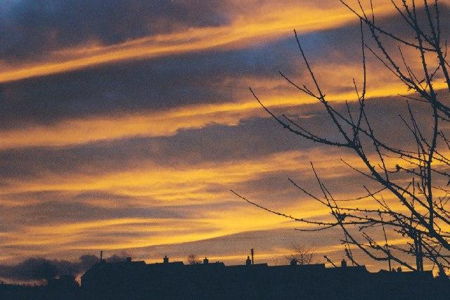 Sunrise over Migdale Road