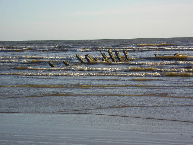 A wreck on Pembrey Beach
