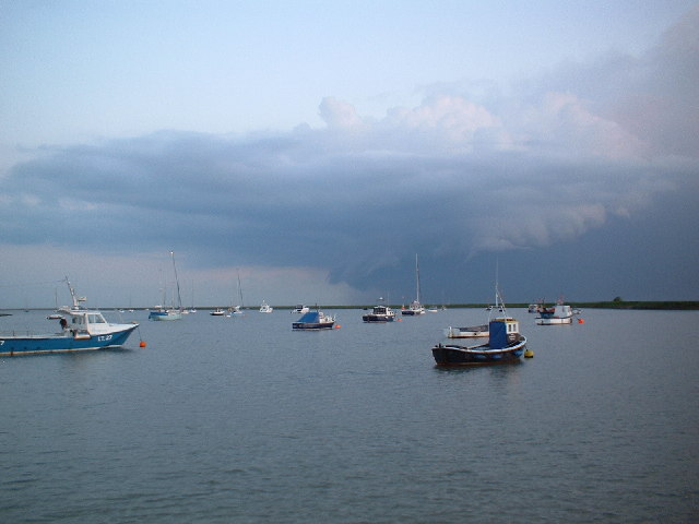 Storm clouds gathering at Orford Quay