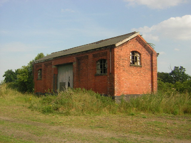 Disused railway goods shed, Harby, Notts.