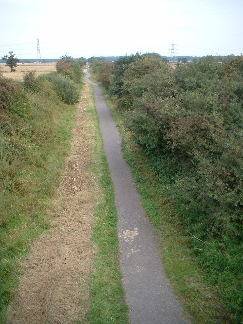 Disused railway track, Harby, Notts.