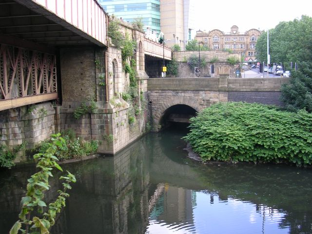 River Irk joins the River Irwell
