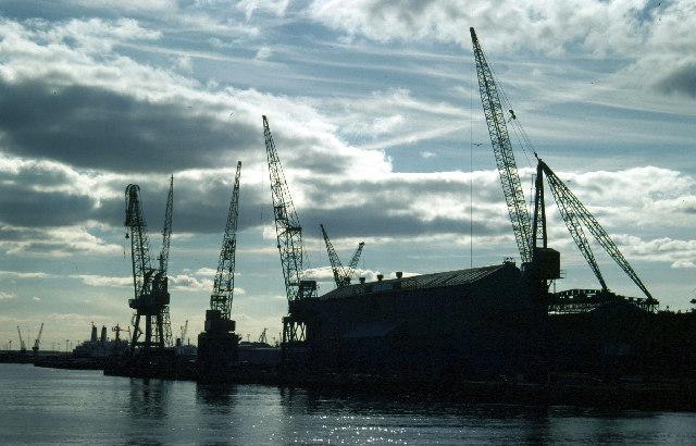 Shipyard at North Shields