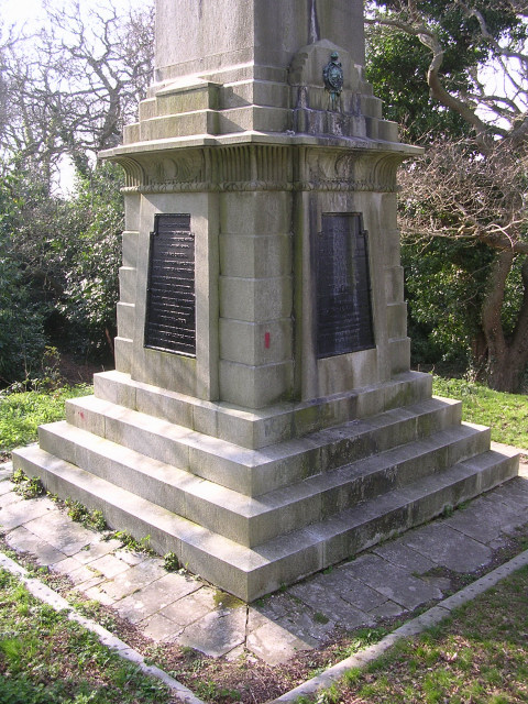 Base of the Walhampton Monument, east of Lymington