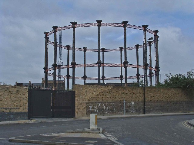 Gasometer behind King's Cross Station