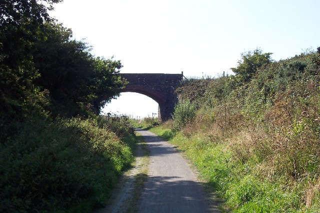 Railway bridge near Mortehoe station, Devon