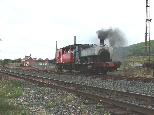 Steam train at Dunaskin