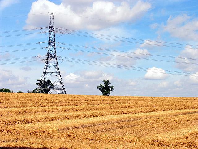 Farmland and Power Pylon, near Castle Combe