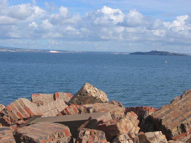 Coastal defences, Leith.