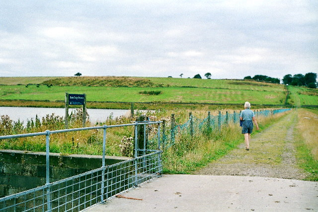 Dean Clough Reservoir, the dam.