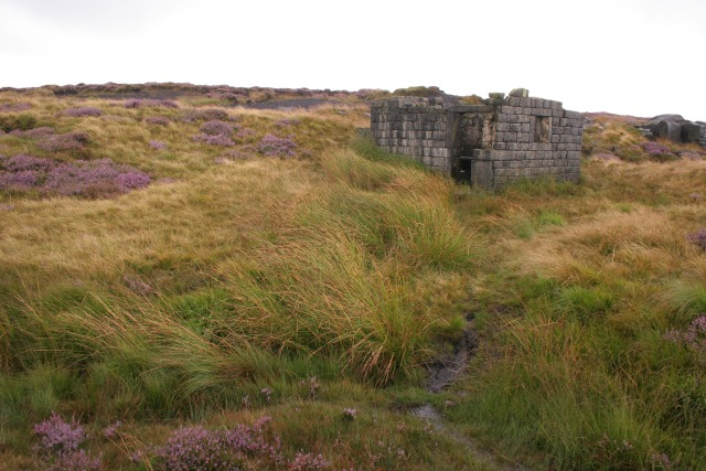 Derelict building, Turley Holes and Higher House Moor