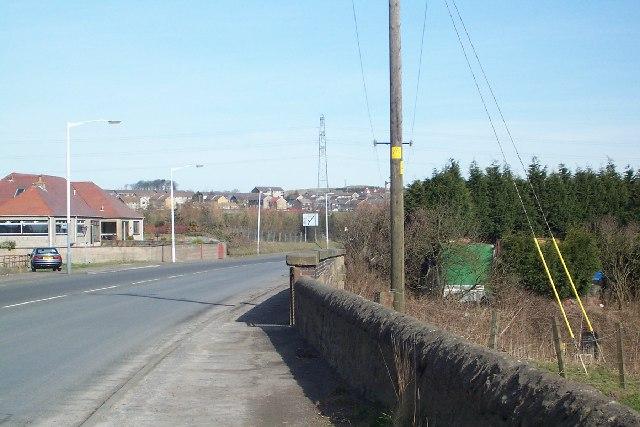 Leaving Crossgates Hill of Beath ahead