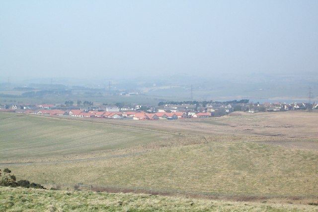 Kingseat from Hill of Beath hill