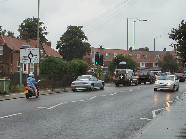 Roundabout on Mile Cross Road