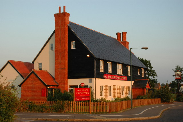 The Cricketers.     Great Notley's Village Pub