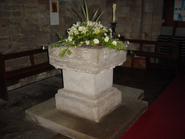 Font in Inkberrow Church