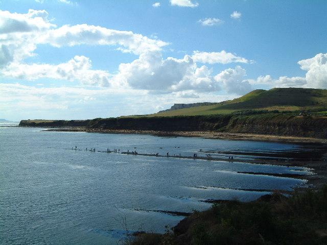 Kimmeridge Bay - westward view