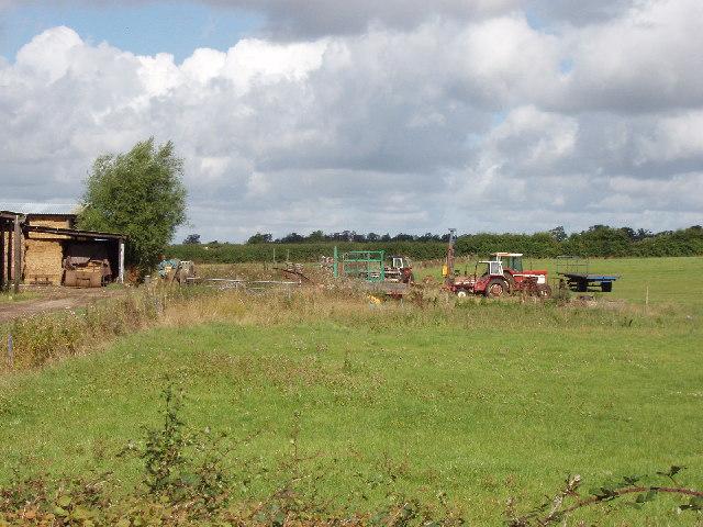 Farm buildings and machinery, near Haddenham
